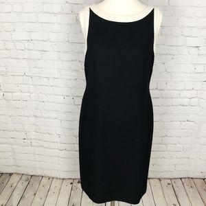 Ann Taylor Loft Black & Cream Shift Dress